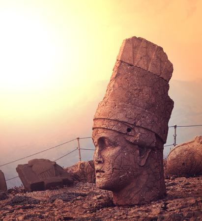 Statue on Mount Nemrut in Turkey photo