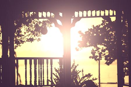 tuinhuis: zomerhuis in de tuin Stockfoto