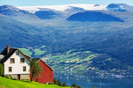 fishing cabin: wooden fishing cabin in   Norway Stock Photo