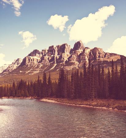 cascade mountains: Canadian mountains Stock Photo