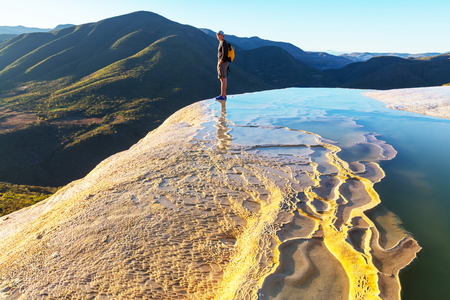 Hierve el Agua, natural rock formations in the Mexican state of Oaxaca Banque d'images