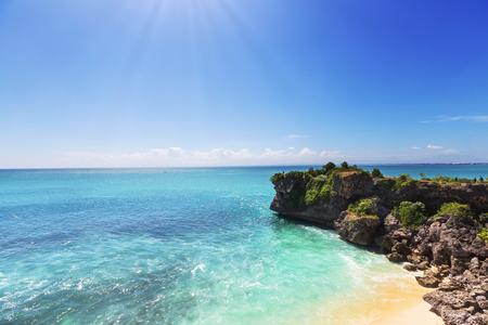 Tropical beach in Bali photo