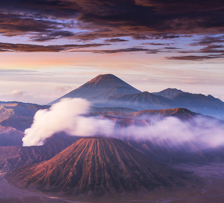 Bromo Volcano at  Java, Indonesia photo