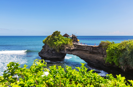 Tanah Lot Temple, Bali, Indonesia Stok Fotoğraf