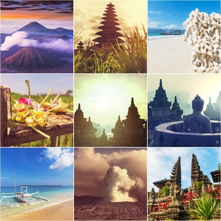 Indonesia theme collage photo