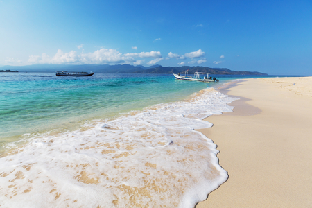 Tropical beach in Gili photo