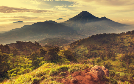 valley of the temples: Java  landscapes
