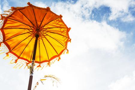 traditions umbrella in temple of Bali