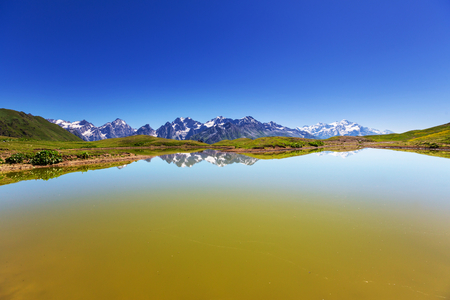 svaneti: Koruldi mountain lake, Georgia, Svaneti Stock Photo