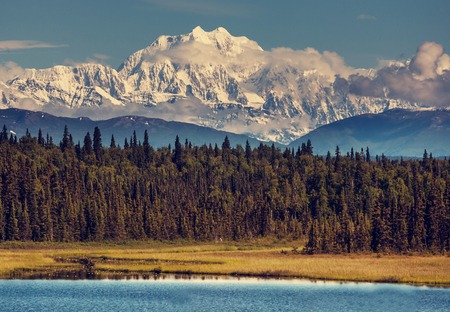 arctic landscape: McKinley peak Stock Photo