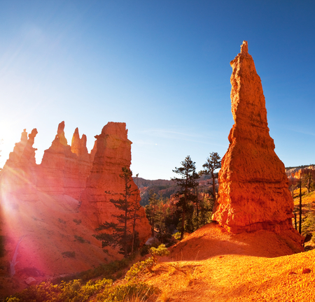 slot canyon: Bryce Canyon Stock Photo