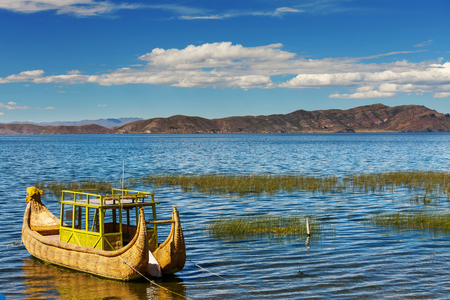 dream lake: Titicaca Lake in Bolivia Stock Photo