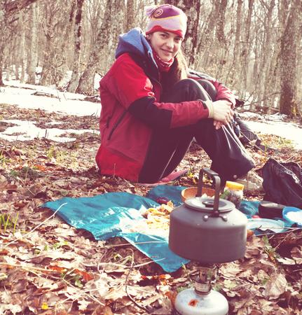 Girl  in hike photo