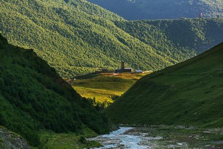 ushguli: Ushguli village. Caucasus, Upper Svaneti, Georgia.