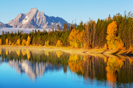Autumn in Grand Teton National Park, Wyoming photo