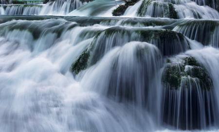 cascade: Water cascade Stock Photo