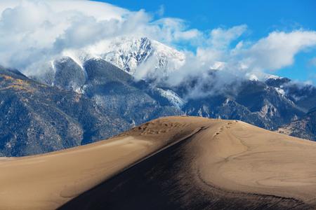 colorado state: Great Sand Dunes National Park, Colorado,USA Stock Photo