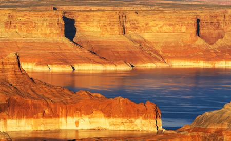 gunsight: Powell lake Stock Photo