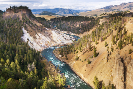 Grand Canyon  Yellowstone, Yellowstone National Park Stock Photo