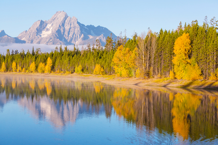 Autumn in Grand Teton Park, Wyoming photo