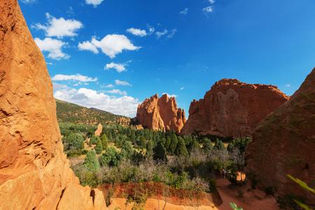 colorado mountains: Garden of the Gods park in Colorado