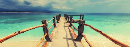 Tropisch strand in Gili Stockfoto