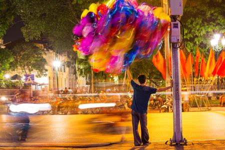 balloons seller in Hanoi. Vietnam photo