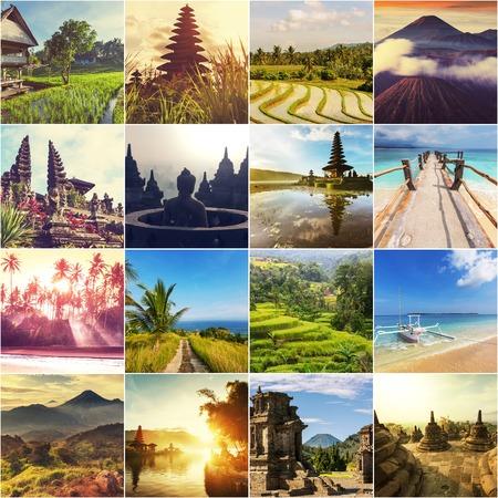 Indonesia theme collage Stock Photo