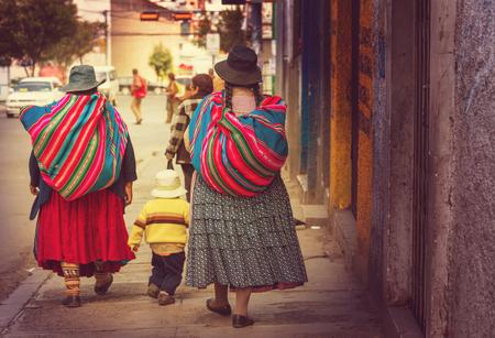 america del sur: Calle en La Paz, Bolivia