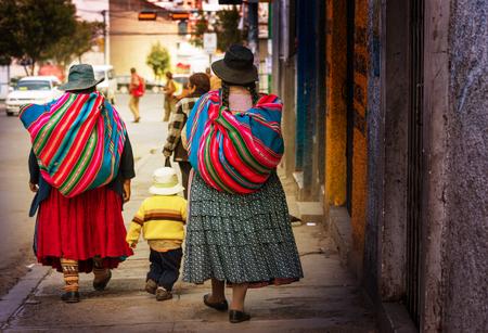Street in La Paz, Bolivia Editorial