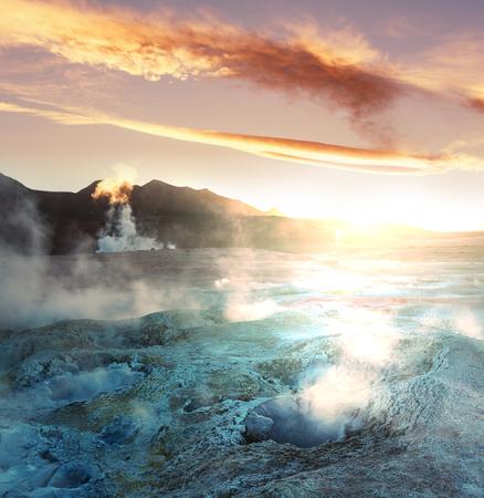 Geyser Sol de Manana, Bolivia