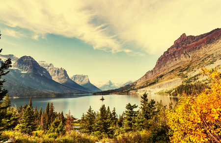 Autumn in Glacier NP, Montana, USA photo