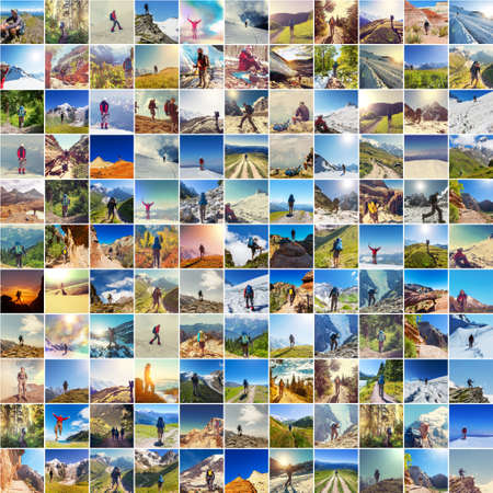 Hiking collage photo