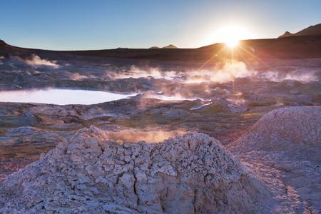 atacama: Geyser Sol de Manana, Bolivia