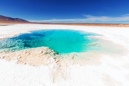 mud snow: Ojo del Mar in Argentina Andes is a salt desert in the Jujuy Province.