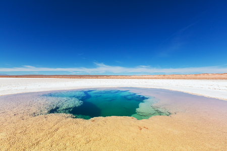Ojo del Mar in Argentina Andes is a salt desert in the Jujuy Province.