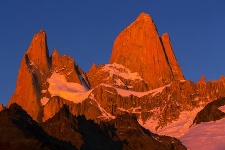 glaciares: Mount Fitz Roy  in Los Glaciares National Park, Argentina Stock Photo