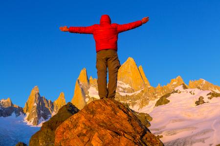 Mount Fitz Roy  in Los Glaciares National Park, Argentina photo