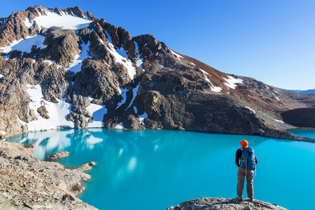 Hike in Patagonia Stock Photo