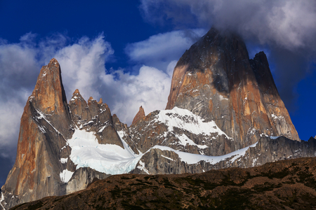tarn: Mount Fitz Roy  in Los Glaciares National Park, Argentina Stock Photo