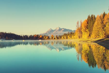 calm background: Autumn in Grand Teton National Park, Wyoming