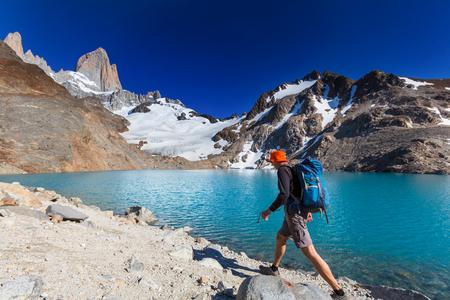 Hike in Patagonia Stockfoto
