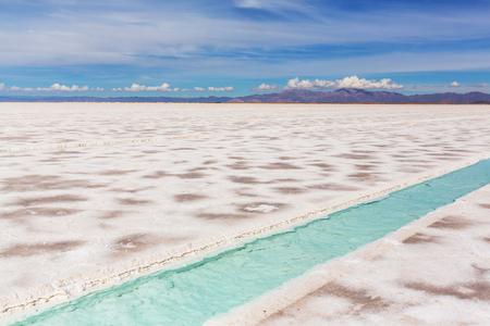 Salt desert in the Jujuy Province, Argentina photo