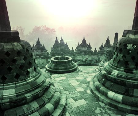 budda: Borobudur Temple,Java, Indonesia.