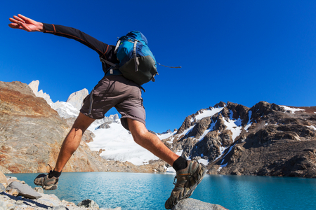 hiking: Hike in Patagonia Stock Photo