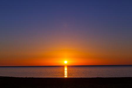 �sunset: mar puesta de sol