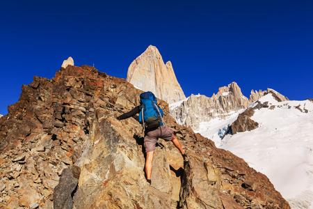 patagonia: Hike in Patagonia Stock Photo
