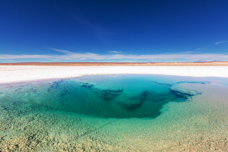 mud snow: Ojo del Mar in a salt desert in the Jujuy Province, Argentina