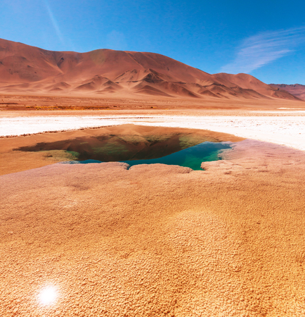 salina: Ojo del Mar in a salt desert in the Jujuy Province, Argentina
