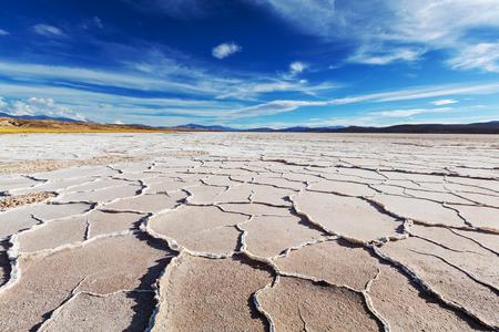 Zout woestijn in de provincie Jujuy, Argentinië